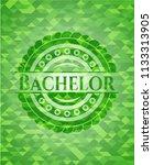 bachelor green mosaic emblem   Shutterstock .eps vector #1133313905