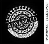advanced written on a blackboard | Shutterstock .eps vector #1133313938