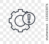 settings vector icon isolated... | Shutterstock .eps vector #1133323076