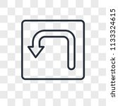 turn vector icon isolated on... | Shutterstock .eps vector #1133324615
