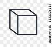cube vector icon isolated on... | Shutterstock .eps vector #1133326118