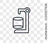 cylinder vector icon isolated... | Shutterstock .eps vector #1133327636