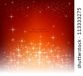 red beautiful christmas... | Shutterstock .eps vector #113333275