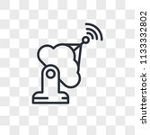 antenna vector icon isolated on ... | Shutterstock .eps vector #1133332802