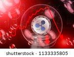 ripple  xrp  in a soap bubble.... | Shutterstock . vector #1133335805