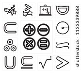 set of 13 simple editable icons ... | Shutterstock .eps vector #1133339888