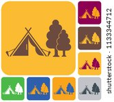 stylized icon of tourist tent.... | Shutterstock .eps vector #1133344712