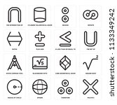 set of 16 icons such as... | Shutterstock .eps vector #1133349242