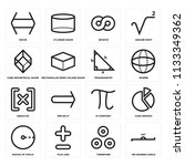 set of 16 icons such as 180...