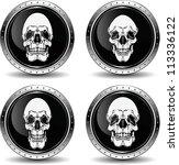 icon with skull  vector... | Shutterstock .eps vector #113336122