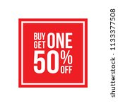 red shop vector sign for a buy...   Shutterstock .eps vector #1133377508