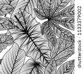 seamless pattern with tropical... | Shutterstock .eps vector #1133379002
