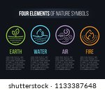 4 elements of nature  symbols... | Shutterstock .eps vector #1133387648