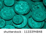 aqua colored money of different ... | Shutterstock . vector #1133394848