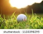 blurred golf ball in beautiful...   Shutterstock . vector #1133398295