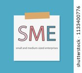sme  small and medium sized... | Shutterstock .eps vector #1133400776