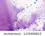 abstract watercolor pink and... | Shutterstock . vector #1133400815