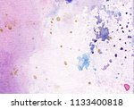 abstract watercolor pink and... | Shutterstock . vector #1133400818