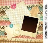 vintage scrapbook background  ... | Shutterstock . vector #113340106