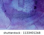 abstract watercolor violet and... | Shutterstock . vector #1133401268
