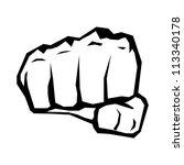 freedom concept. vector fist...   Shutterstock .eps vector #113340178