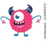 scary cartoon one eyed monster. ... | Shutterstock .eps vector #1133409272