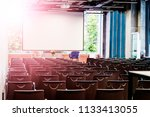 conference room in modern...   Shutterstock . vector #1133413055