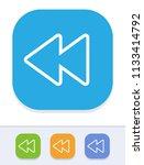 rewind   tile stroke icons. a... | Shutterstock .eps vector #1133414792
