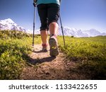 hiking in mountains | Shutterstock . vector #1133422655