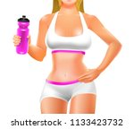 young woman's body in sport... | Shutterstock .eps vector #1133423732