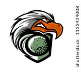 eagle head golf team logo   Shutterstock .eps vector #1133424008
