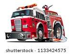 vector cartoon firetruck....   Shutterstock .eps vector #1133424575