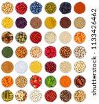 fruits and vegetables berries... | Shutterstock . vector #1133426462