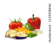 fresh and nutritious dietary... | Shutterstock .eps vector #1133428646