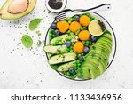 healthy nourishment bowl with... | Shutterstock . vector #1133436956