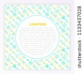 lighting concept with thin line ...   Shutterstock .eps vector #1133437028