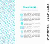 spa   sauna concept with thin... | Shutterstock .eps vector #1133438366