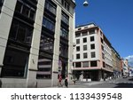 oslo downtown in sunny day.... | Shutterstock . vector #1133439548