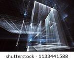 abstract technology 3d... | Shutterstock . vector #1133441588
