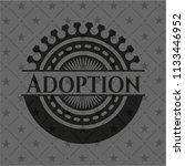 adoption black badge | Shutterstock .eps vector #1133446952