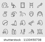 line icons set for hair salon | Shutterstock .eps vector #1133450738