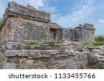 the tulum ruins in the riviera...   Shutterstock . vector #1133455766