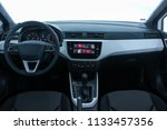 dashboard of a modern car with... | Shutterstock . vector #1133457356