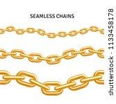 gold seamless chain set... | Shutterstock .eps vector #1133458178