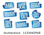 sale stickers collection   huge ... | Shutterstock .eps vector #1133460968