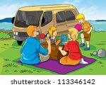 illustration of a family having ... | Shutterstock . vector #113346142
