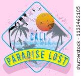 california miami summer t shirt ... | Shutterstock . vector #1133462105