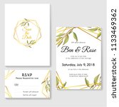 wedding invitation card set... | Shutterstock .eps vector #1133469362