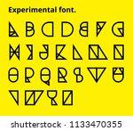 experimental geometric thin... | Shutterstock .eps vector #1133470355