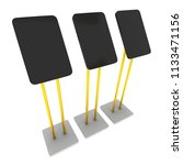 lcd screen stand. trade show... | Shutterstock . vector #1133471156